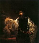 Aristotle with a Bust of Homer, Rembrandt