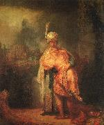 David's Farewell to Jonathan, Rembrandt