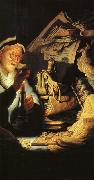 The Rich Old Man from the Parable, Rembrandt