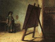 Artist in his Studio, Rembrandt