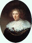 Woman Wearing a Gold Chain, Rembrandt