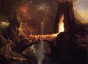 Thomas Cole Expulsion - Moon and Firelight oil painting reproduction