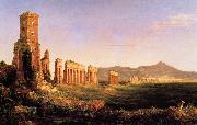 Thomas Cole Aqueduct near Rome oil painting reproduction
