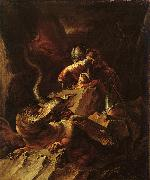 Salvator Rosa Jason Charming the Dragon oil painting