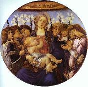 Sandro Botticelli Madonna and Child with Eight Angels oil painting