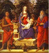 Virgin and Child Enthroned between Saint John the Baptist and Saint John the Evangelist