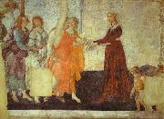 Venus and the Three Graces presenting Gifts to Young Woman, Sandro Botticelli