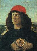 Sandro Botticelli Portrait of a Man with a Medal oil painting