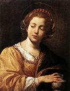 Simon Vouet St Catherine oil painting
