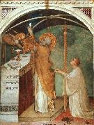 Simone Martini Miraculous Mass oil painting