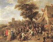 TENIERS, David the Younger Peasants Merry-making wt oil painting reproduction