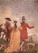 TIEPOLO, Giovanni Domenico The Promenade art oil painting
