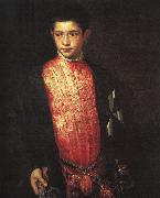 TIZIANO Vecellio Portrait of Ranuccio Farnese ar oil painting