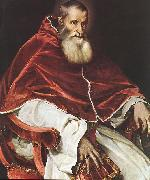 Portrait of Pope Paul III atr, TIZIANO Vecellio