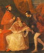 Pope Paul III with his Nephews Alessandro and Ottavio Farnese ar, TIZIANO Vecellio