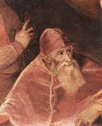 Pope Paul III with his Nephews Alessandro and Ottavio Farnese (detail) art, TIZIANO Vecellio