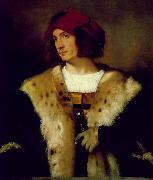 Portrait of a Man in a Red Cap er, TIZIANO Vecellio