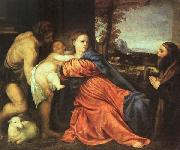 Holy Family and Donor t, TIZIANO Vecellio