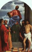 St. Mark Enthroned with Saints t, TIZIANO Vecellio