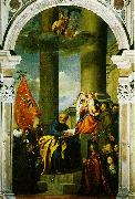 Madonna with Saints and Members of the Pesaro Family  r, TIZIANO Vecellio