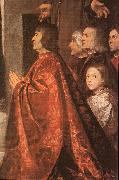 Madonna with Saints and Members of the Pesaro Family (detail) wt, TIZIANO Vecellio