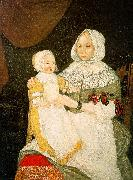 The Freake Limner Mrs Elizabeth Freake and Baby Mary oil painting