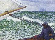 Theo Van Rysselberghe Man at the Helm oil painting