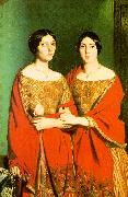 Theodore Chasseriau The Two Sisters oil painting
