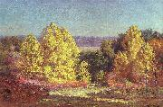 Theodore Clement Steele The Poplars oil painting reproduction