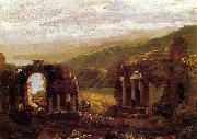 Thomas Cole Ruins of Taormina oil painting reproduction