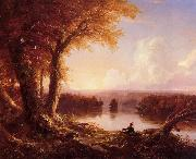 Indian at Sunset, Thomas Cole