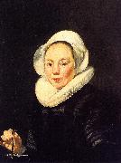 Thomas De Keyser Portrait of a Woman Holding a Balance oil painting