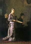 Thomas Eakins The Pathetic Song oil painting artist