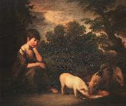 Girl with Pigs, Thomas Gainsborough