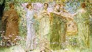 Thomas Wilmer Dewing The Days oil painting