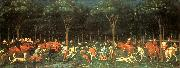 The Hunt in the Forest aer, UCCELLO, Paolo
