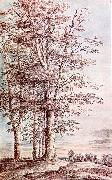 UDEN, Lucas van Landscape with Tall Trees dg oil painting