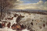 VALKENBORCH, Lucas van View of Antwerp with the Frozen Schelde tg oil painting