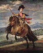 VELAZQUEZ, Diego Rodriguez de Silva y Prince Baltasar Carlos on Horseback kh oil painting reproduction