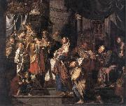 VERHAGHEN, Pieter Jozef The Presentation in the Temple a er oil painting