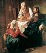 Christ in the House of Martha and Mary  r, VERMEER VAN DELFT, Jan