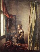 Girl Reading a Letter at an Open Window t, VERMEER VAN DELFT, Jan