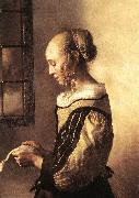 Girl Reading a Letter at an Open Window (detail) wt, VERMEER VAN DELFT, Jan