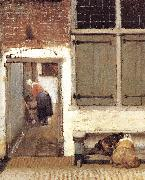 The Little Street (detail) wt, VERMEER VAN DELFT, Jan
