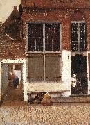 The Little Street (detail)  et, VERMEER VAN DELFT, Jan