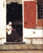 The Little Street (detail) etr, VERMEER VAN DELFT, Jan