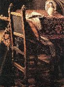 A Lady Drinking and a Gentleman (detail) ar, VERMEER VAN DELFT, Jan