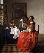 A Lady and Two Gentlemen t, VERMEER VAN DELFT, Jan