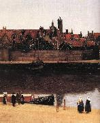 View of Delft (detail) est, VERMEER VAN DELFT, Jan