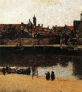 View of Delft (detail) wt, VERMEER VAN DELFT, Jan